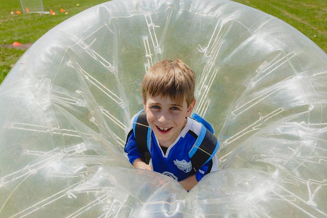 Safe Hands Insurance provides insurance solutions for mobile inflatable fun such as bubble soccer and bouncing castles